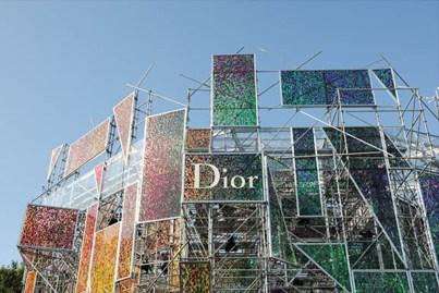 Outside the Dior secret garden