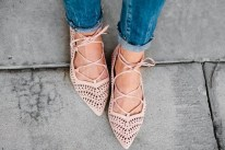 How to Wear Lace-Up Ballet Flats