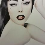 Coco Rocha (2007- impression Acrylique sur Aluminium)Karl Lagerfeld