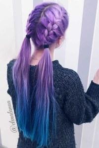 24 Inspirational Ideas To Braid Your Purple Hair - Fashion ...