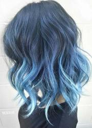magically blue denim hair colors