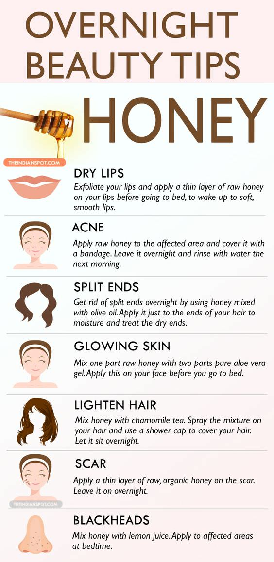 Amazing Overnight Beauty Tips With Honey Fashion Daily