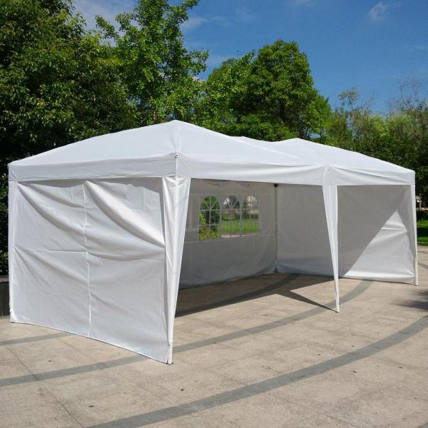 10 X 20 Patio Gazebo Ez Pop Party Tent Wedding Canopy Withside Walls Outdoor