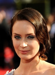 Emily Blunt on fashiondailymag.com at the emmys photo by Jeff Kravitz/Film Magic on FDM fashiondailymag.com by Brigitte Segura