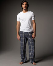Burberry-Check-Pajama-Set-Gray-on-www.fashiondailymag.com-Brigitte-Segura