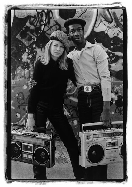 Tina Weymouth Grandmaster Flash © Laura Levine 1981 PHOTO courtesy of publicist on fashion daily mag