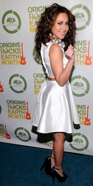 Adrienne Bailon at Origins Rocks Earth Month photo publicist on FashionDailyMag