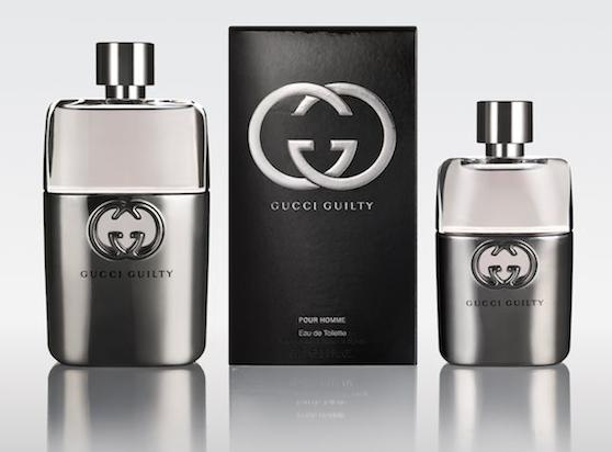 GUCCI guilty for men coppia scatola in men so guilty photo courtesy of publicist  on FashionDailyMag brigitte segura