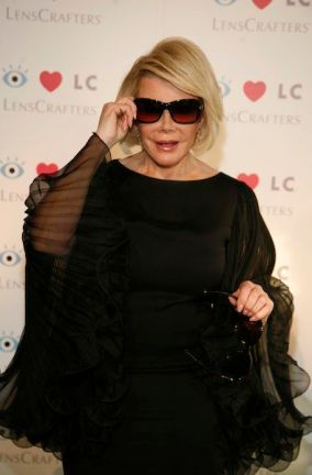 JOAN RIVERS at LENSCRAFTERS red carpet 2 photo courtesy of publicist on FashionDailyMag