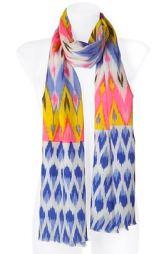 MATTHEW-WILLIAMSON-yellow-violet-ethno-scarf
