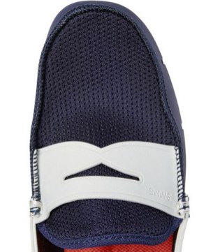 SWIMS waterproof penny loafers at MrPorter on FashionDailyMag
