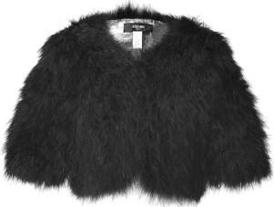 AZZARO fuzzy evening jacket holiday 2011 FashionDailyMag glamour