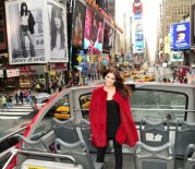 Ashley Greene Unveils DKNY Jeans Srping 2012 Ad Campaign in Times Square