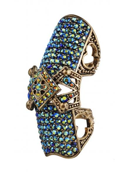 BLUE sequin ring FashionDailyMag sel TopShop
