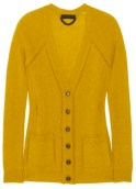 BURBERRY PRORSUM yellow cashmere cardi nap FashionDailyMag cashmere for the holidays