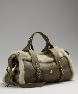 METALLIC shearling doctor bag UGG in FUZZY can be cool on FashionDailyMag