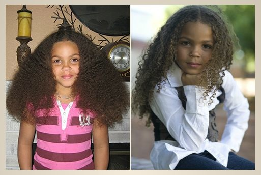 MIXED CHICKS curly hair products before after shots on FashionDailyMag