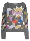 PREEN intarsia cashmere colored sweater just CASHMERE FashionDailyMag