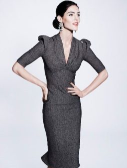 ZAC POSEN prefall 2012 FashionDailyMag sel look 10 brigitte segura