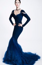 ZAC POSEN prefall 2012 blue on FashionDailyMag
