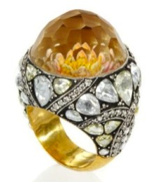 sevan bicakci diamond + carved flower ring 3680 girlie sparkle on fdm