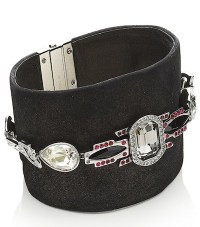 swarovski leather + embelished cuff FashionDailyMag loves