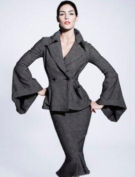zac posen prefall2012 sel fashiondailymag brigitte segura look 2