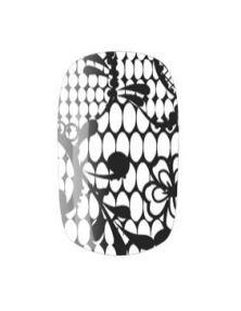NAIL ROCK wraps black lace on white Fashiondailymag loves