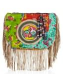 ANTIK BATIK fringe bright cotton clutch nature inspired accessories