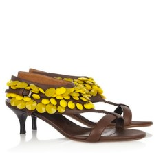 BURBERRY PRORSUM embellished sandals with yellow for an outdoor spring 2012