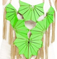 EA BURNS leather breast plate necklace recycled leather FashionDailyMag eco-friendly