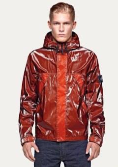 STONE ISLAND red jacket reflective spring 2012 FashionDailyMag