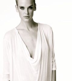 BELLALUXX drape neck knit top white fashionDailyMag loves the whites