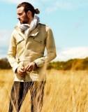 BRITISH ARTIST ROBERT PRATT in BALMAIN safari jacket MrPorter on FashionDailyMag