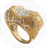 CARRERA y CARRERA ring Olivia Palermo 2 Montera ring in yellow gold and diamonds
