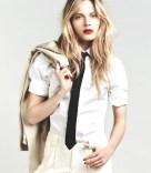 MAC crisp white shirt and textured shorts whites on FashionDailyMag
