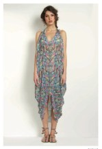 MARA HOFFMAN SILKY patterned cover up for swim 2012 FashionDailyMag