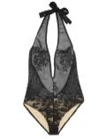 YSL halter neck stretch lace bodysuit FASHIONDAILYMAG loves