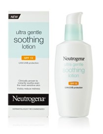 neutrogena ultra gentle soothing lotion FashionDailyMag drugstore beauty ss12