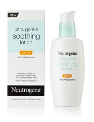 neutrogena ultra gentle soothing lotion FashionDailyMag drugstore beauty ss12
