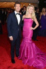 ryan seacrest wearing burberry to the metropolitan museum of art 2012 costume institute benefit in ny, 07-1.05.12