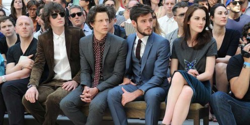 George-Craig-Rob-Pryor-Roo-Panes-and-Michelle-Dockery-at-the-Burberry-Prorsum-Menswear-Spring-Summer-2013