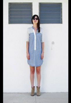 love zooey summer 2012 shirtdress on FashionDailyMag