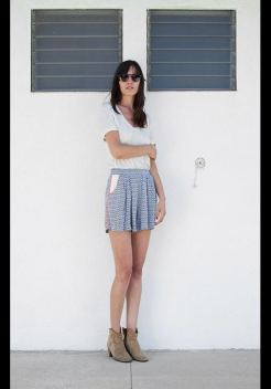 love zooey summer 2012 skirt shorts on FashionDailyMag