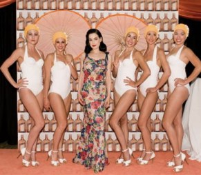 Dita Von Teese with the Aqualillies 2