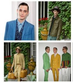 FASHIONDAILYMAG menswear spring 2013 highlights gucci TRUSSARDI and etro blues
