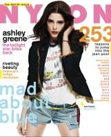 NYLON COVER DENIM ISSUE ASHLEY GREENE