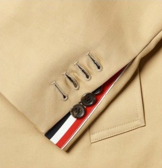 THOM BROWNE grograin details trench FALL 2012