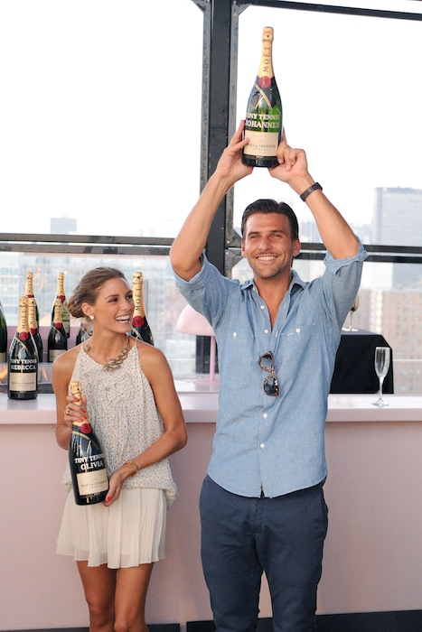 First Annual Moet & Chandon Tiny Tennis Invitational olivia palermo and boyfriend Johannes Huebl