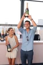 First Annual Moet & Chandon Tiny Tennis Invitational olivia palermo and boyfriend Johannes Huebl